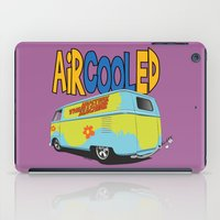 vw bus iPad Cases featuring VW Camper Drag Bus by VelocityGallery