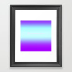 Re-Created  Color Field with LOVE 9 by Robert S. Lee Framed Art Print