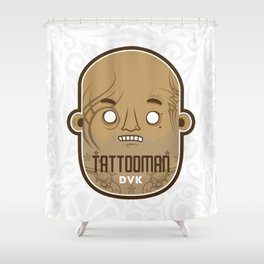 T A T T O O M A N Shower Curtain