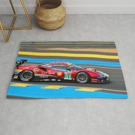488 GTE EVO Italian Sports Car Le Mans Rug