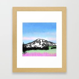 Mount Rainier Framed Art Print