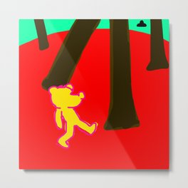 Drunk bear about to be abducted Metal Print