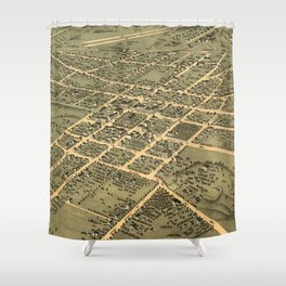 Vintage Pictorial Map of Huntsville Alabama (1871) Shower Curtain