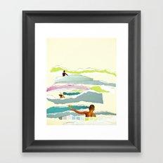 Sun and Surf Framed Art Print