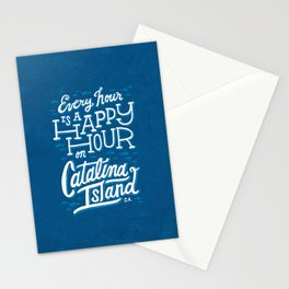 Every Hour is a Happy Hour Blue Stationery Cards