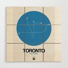 Toronto Blue Subway Map Wood Wall Art