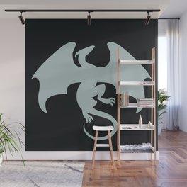 Silver Dragon Emblem Wall Mural