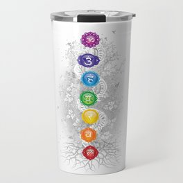 7 Chakra Symbol Tree Of Life #26 Travel Mug