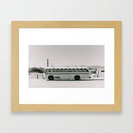 Party Bus: Downtown Joshua Tree Framed Art Print