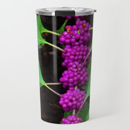 Purple Fruit Clusters Travel Mug