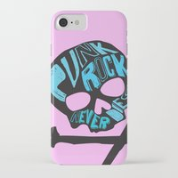 punk rock iPhone & iPod Cases featuring Punk Rock Never Dies by Even In Death