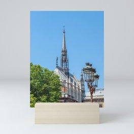 Spire of Sainte-Chapelle (Holy Chapel) in Paris Mini Art Print