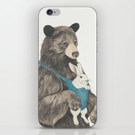 the bear au pair iPhone Skin
