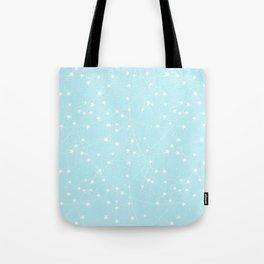 Merry Christmas- Teal Festive Stars X-Mas Pattern Tote Bag