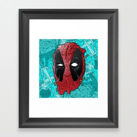 Been Deadpool Awhile  Framed Art Print