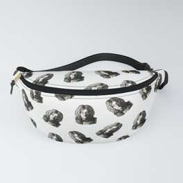 John in Black and White Fanny Pack