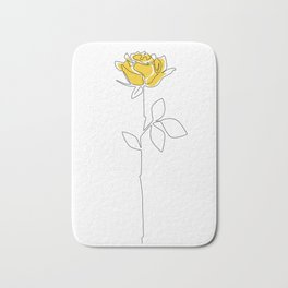 Lemon Rose Bath Mat