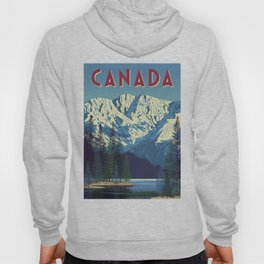 Canada Vintage Travel Poster Commercial Air Travel Poster Hoody