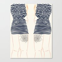 stripes Canvas Prints featuring Stripes by Elly Liyana
