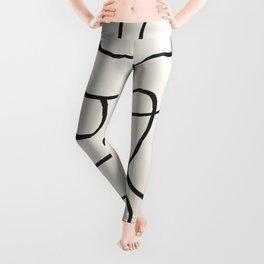 Abstract line art 15 Leggings