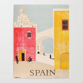 Spain Vintage Travel Poster Mid Century Minimalist Art Poster