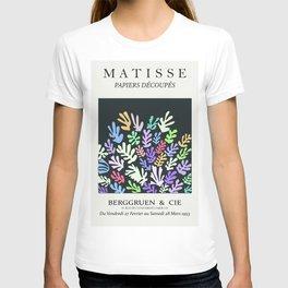 Henri matisse la gerbe coral pastel chalky cutout art, serene nights art print T-shirt