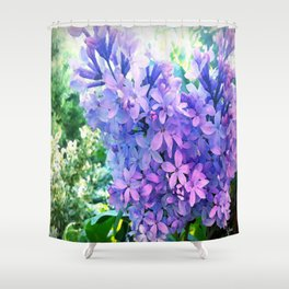 Lilacs in Bloom Shower Curtain