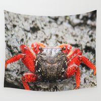 crab Wall Tapestries featuring Crab by Cassidy Marshall