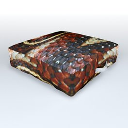 Red Striped Snake Outdoor Floor Cushion