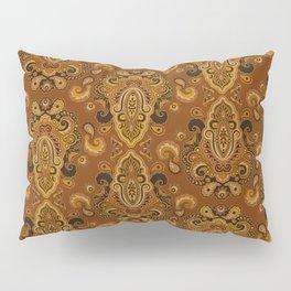 Golden Glow Paisely Pillow Sham