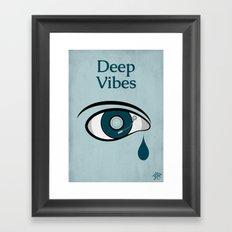 Deep Vibes Framed Art Print