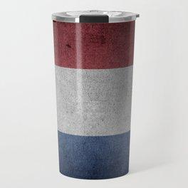 Vintage Grunge flag of The Netherlands Travel Mug