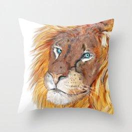 Colourful Lion Throw Pillow