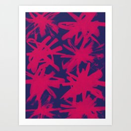 pink brushstrokes Art Print