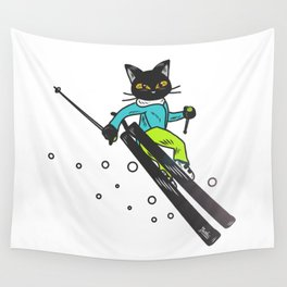 Ski action Wall Tapestry