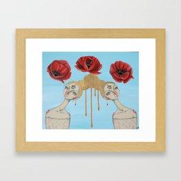 Poppies of Enlightenment Framed Art Print