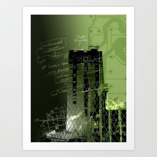 Project Green Tower Art Print