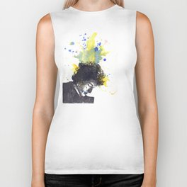 Portrait of Bob Dylan in Color Splash Biker Tank