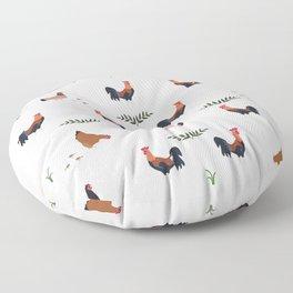 Jungle Fowl Floor Pillow