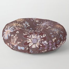 Amber Spice Florals Floor Pillow