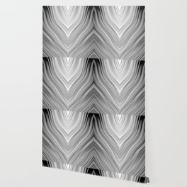 stripes wave pattern 3 bwgr Wallpaper