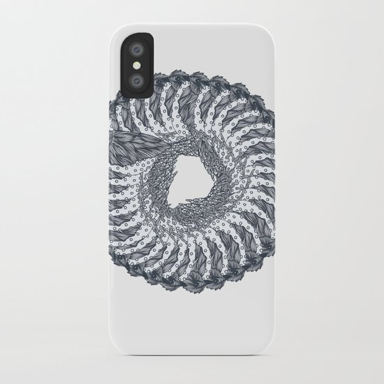 bird wreath iPhone Case