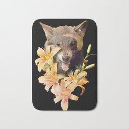 Wolfish flowers Bath Mat