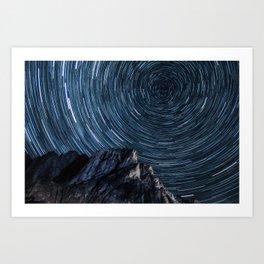 60 Minutes Of Patagonian Stars Art Print