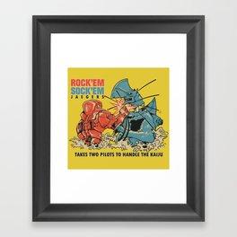 ROCK 'EM, SOCK 'EM JAEGERS Framed Art Print