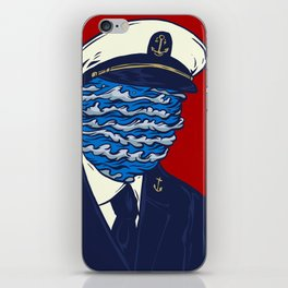 Captain of the Salty Waves iPhone Skin