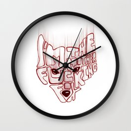 I'm the mother fucking fox Wall Clock