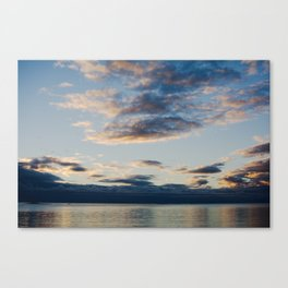 sunset at bark bay I Canvas Print