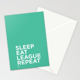 Eat League Sleep Repeat Stationery Cards
