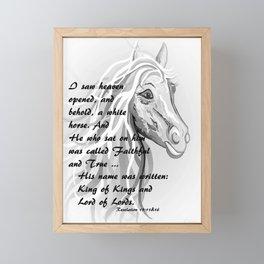 White Horse of a King Framed Mini Art Print